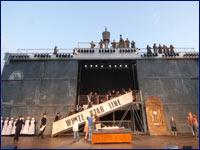 Titanic Vorführung auf dem Domplatz ©theater