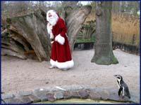 Weihnachtsmann im Zoo Magdeburg ©Zoo