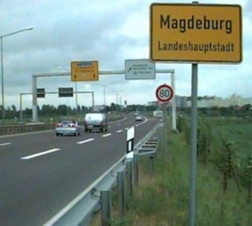 Magdeburger Ring von A2 Richtung Magdeburg