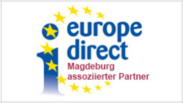 Logo Europe Direct Informationszentrum Magdeburg, assozierter Partner