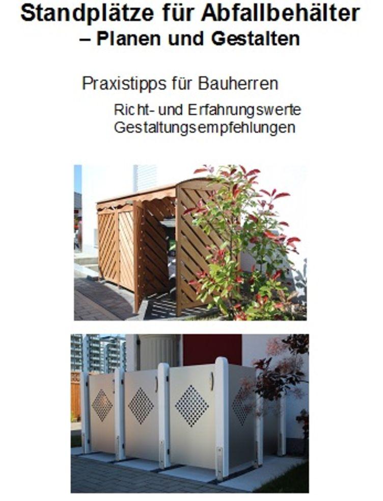 Titelbild Flyer Standplätze für Abfallbehälter