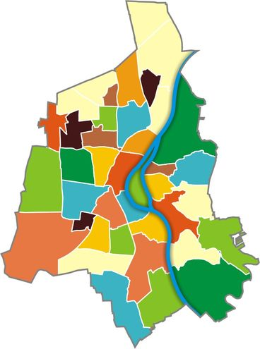 Übersichtskarte Magdeburg - Stadtteile