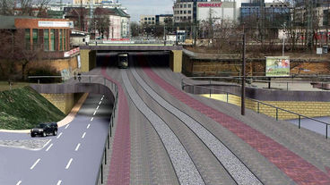Visualisierung Eisenbahnüberführung Ernst-Reuter-Allee