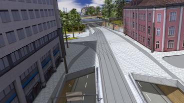 Tunneleinfahrt Ostseite, Visualisierung