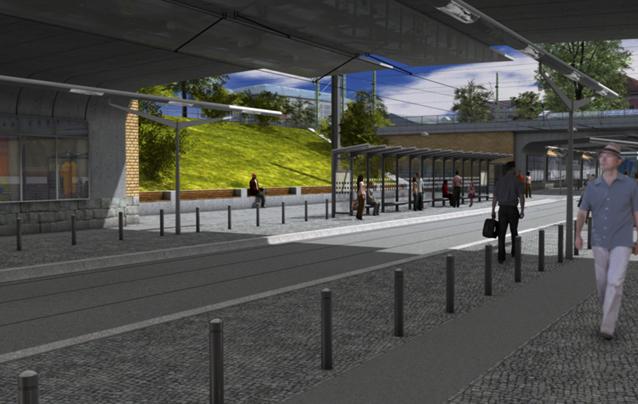 Visualisierung Straßenbahnhaltestelle Kölner Platz