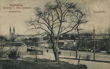 Magdeburg gesehen vom Ulrichstor 1910 - Archiv Dr. Schmietendorf