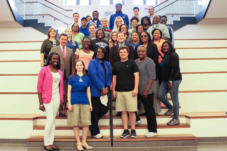 Empfang der Studenten der TSU Nashville im Rathaus