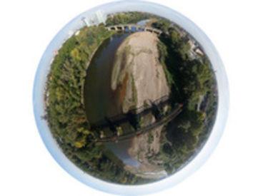 Externer Link: Luftbildpanorama aus 100m Höhe