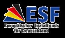 Externer Link: Logo für die Europäischen Sozialfonds für Deutschland