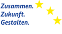 Externer Link: Logo Zusammen Zukunft Gestalten ESF Claim