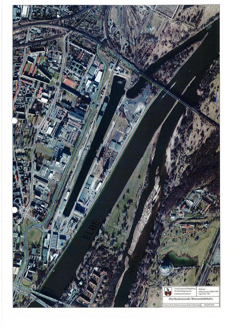 Übersicht Schiffshafen Magdeburg