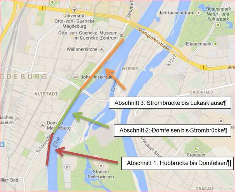 Ufermauer Elbbahnhof bis Petriförder