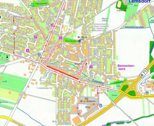 Ausbau Radweg Königsstraße