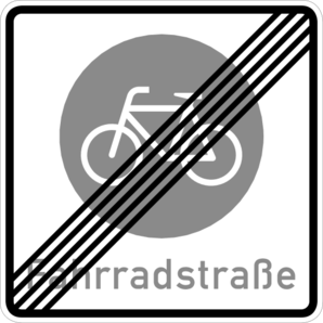 Fahrradstraße - Goethestraße - Ende