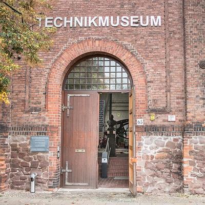 Technikmuseum Ansicht Gebäudefront mit Haupteingang