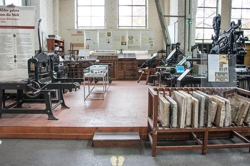 Technikmuseum Buchdruckerei Kabinettsansicht