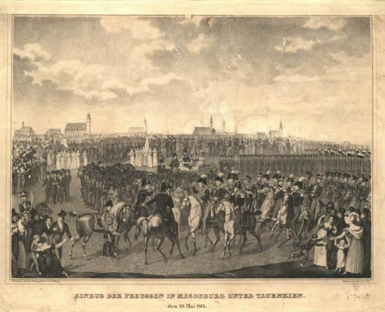 C. Boehme Einzug der Preussen 24-5-1814