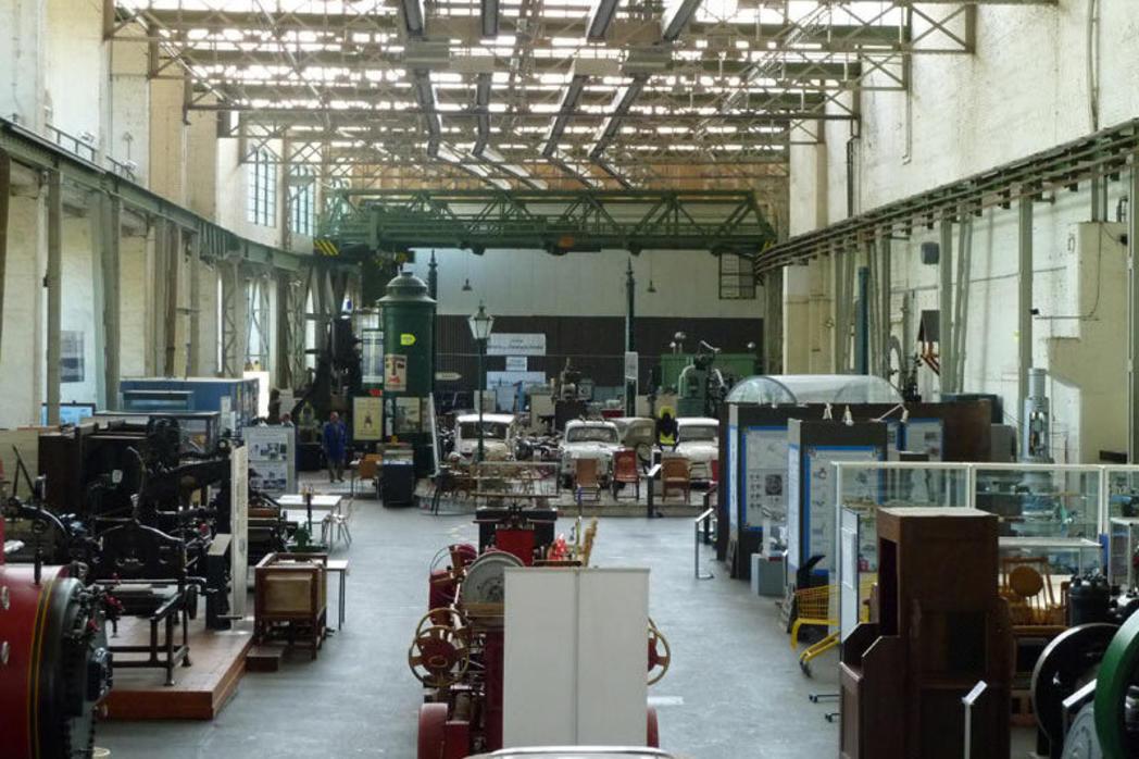 Ausstellungshalle im Technikmuseum Magdeburg©