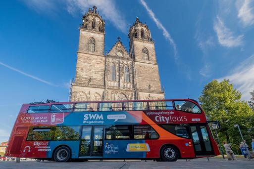 Stadtrundfahrt mit Domführung ©Andreas Lander, Magdeburg Marketing