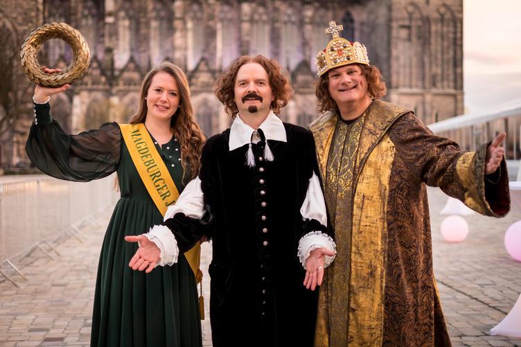 Persönlichkeiten: Guericke, Magdeburger Jungfrau, Otto I. ©AndreasLander