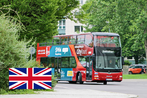 Interner Link: Guided City Tour on a Double-Decker Bus - 1 Hour