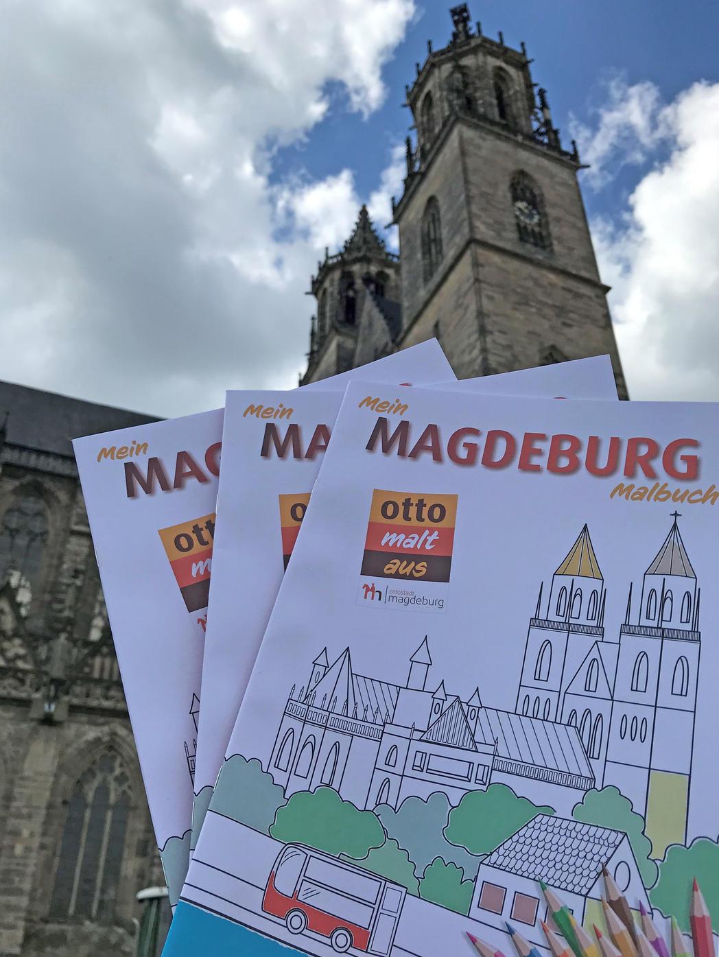 Zum Kindertag wird das neue Magdeburg-Malbuch veröffentlicht©Magdeburg Marketing