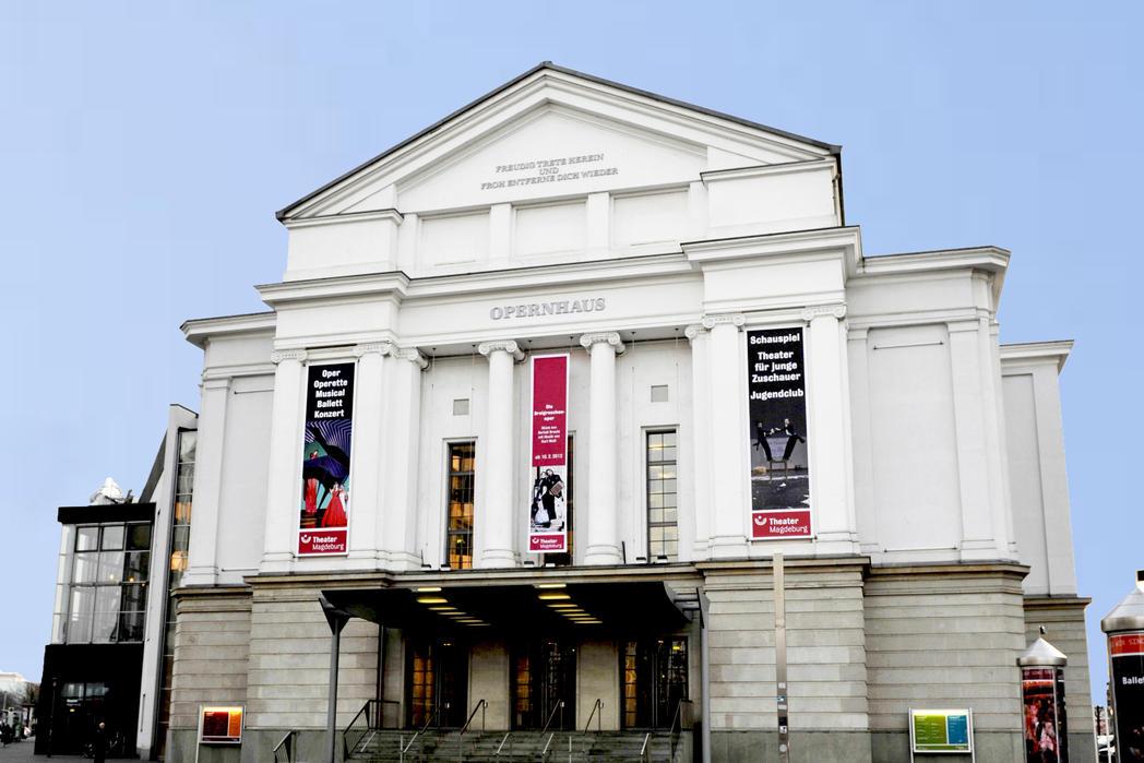 Opernhaus Außenansicht  © Theater Magdeburg