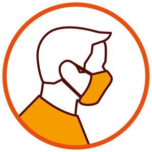 Nasen-Mund-Schutz tragen