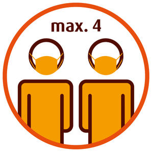 Maximal 4 Kunden