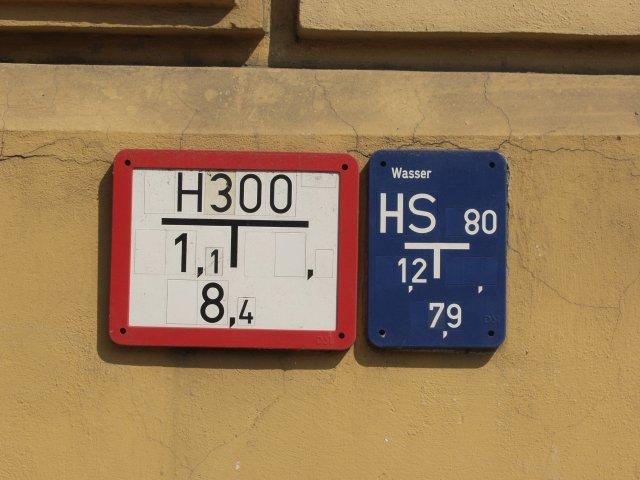 Beschilderung Hydranten
