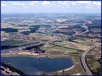 Wasserstraßenkreuz Luftaufnahme, ©Flugdienst MD