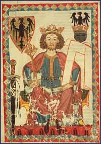Codex Manesse, Kaiser Heinrich VI., 1. Hälfte 14. Jhd. ©Heidelberg, Universitätsbibliothek